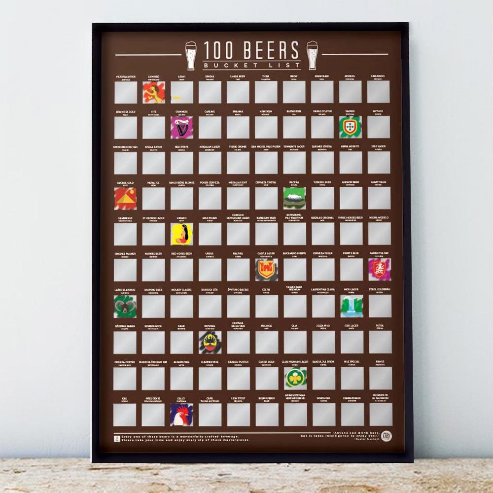 Poster 100 Bières à Boire avant de Mourir