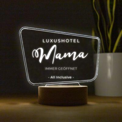 Lampe LED style panneau d'affichage avec texte
