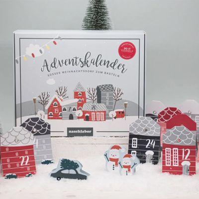 Calendrier de l'Avent village de Noël DIY