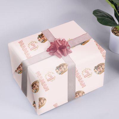 Papier cadeau multivisage N° 1 Maman