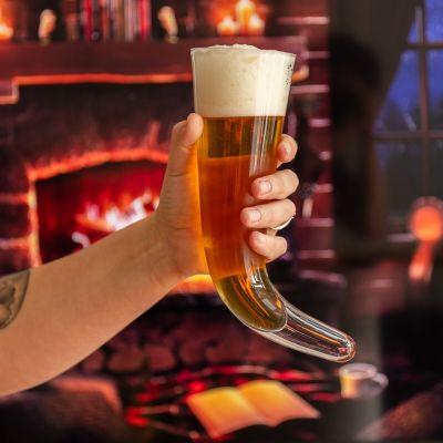 Corne à boire Viking en Verre