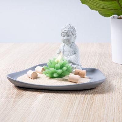 Bouddha sur une assiette