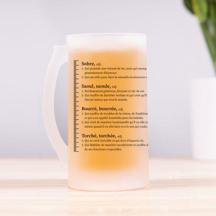 Chope de bière avec niveaux d'ébriété - FR