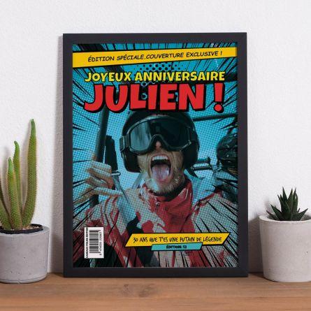 Poster personnalisable avec texte et image façon BD