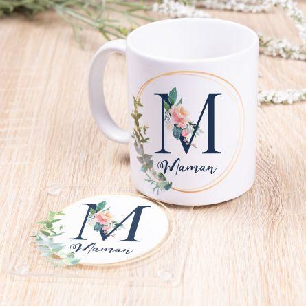 Tasse « Maman » avec sous-verre - FR