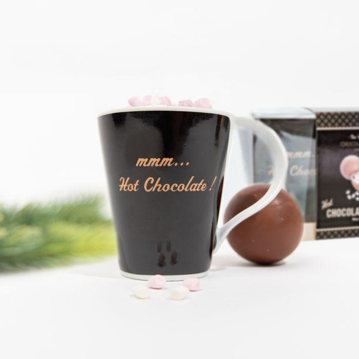 Coffret cadeau Bombe pour Chocolat chaud avec Tasse