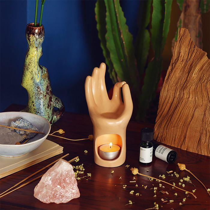 Lampe aromatique Main Om Yoga