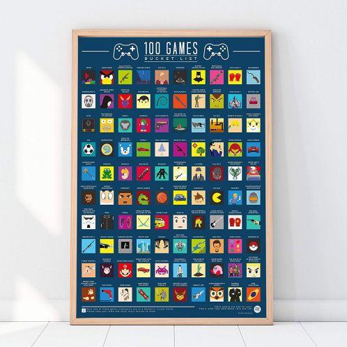 Poster 100 Jeux à découvrir avant de mourir