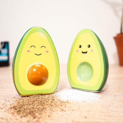 Salière et poivrière Happy Avocado