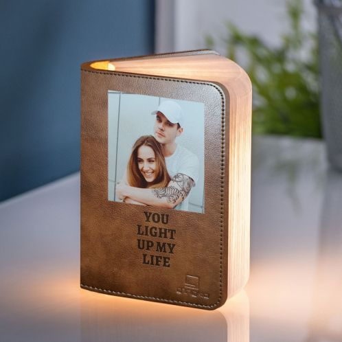 Lampe Livre avec Photo et Texte