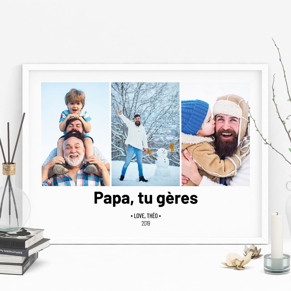 Poster avec 3 Photos et Texte