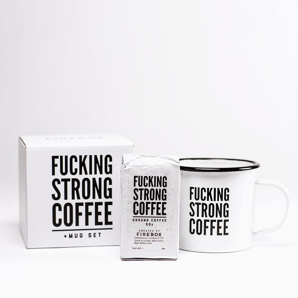 Coffret F*cking Strong Coffee avec sa Tasse