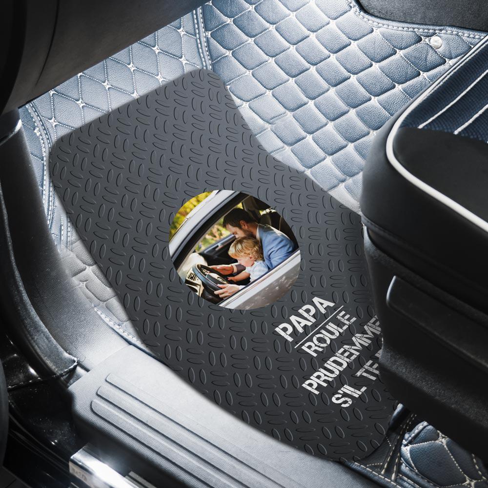 cadeau papa Tapis de voiture avec photo et texte