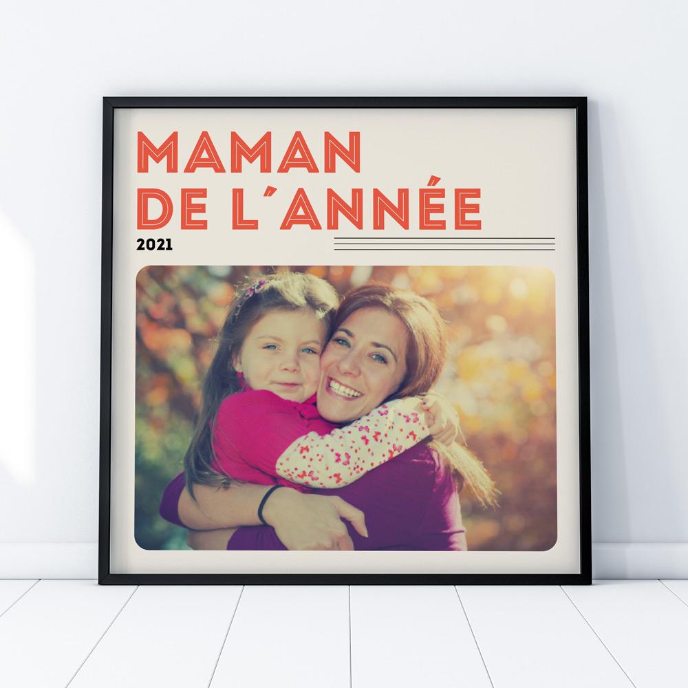 cadeau fête des Mères Poster Couverture Vinyle
