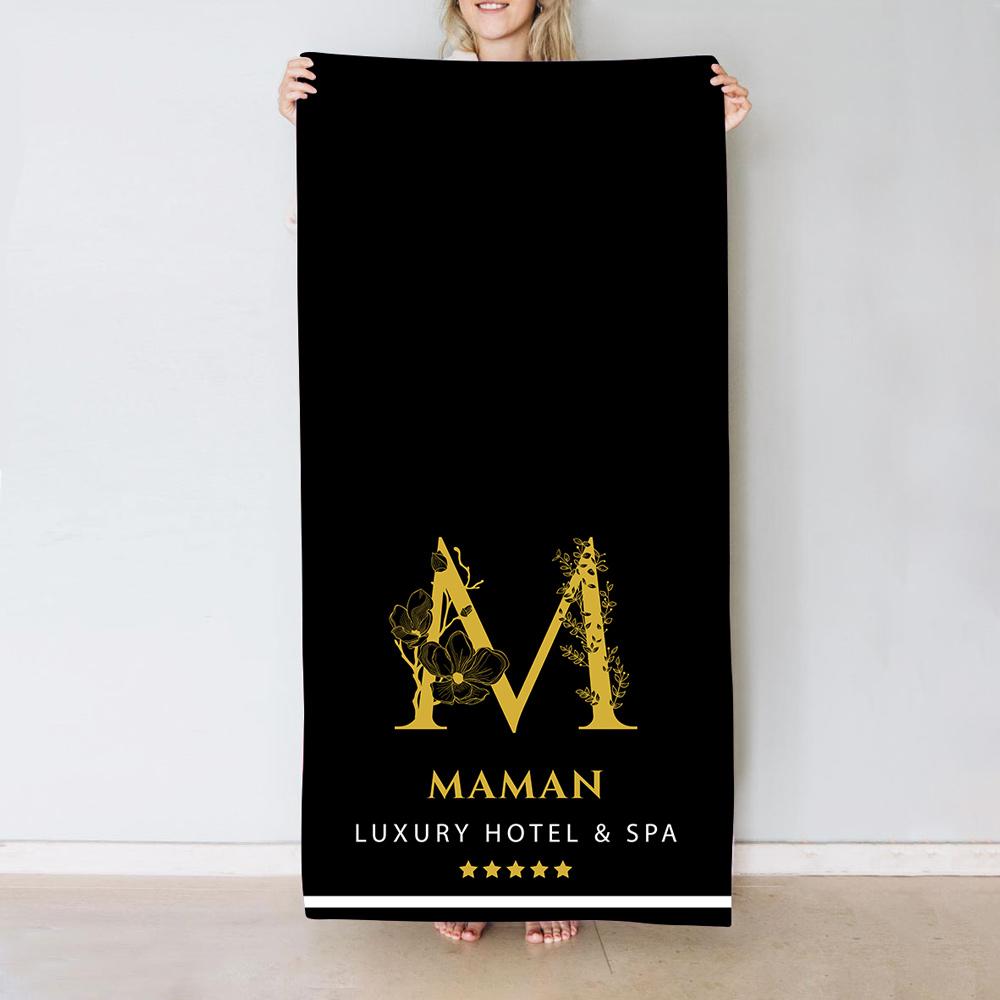 cadeau fête des Mères Serviette avec Monogramme Design Hôtel