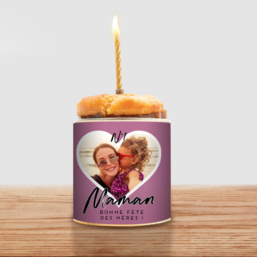 cadeau maman Cancake avec Coeur et Texte