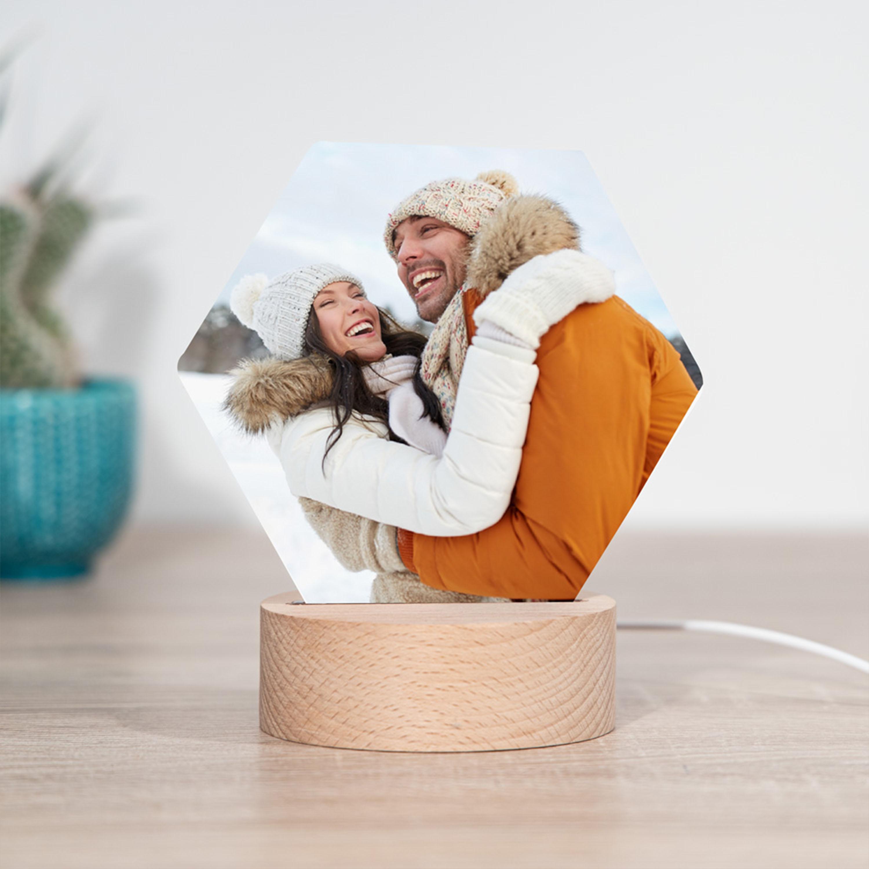 Cadeaux de noel Lampe LED avec photo