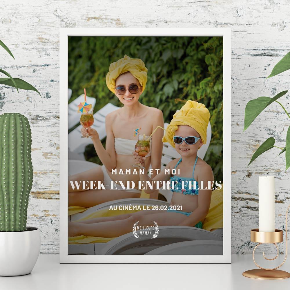 cadeau fête des Mères Affiche personnalisable façon affiche de film