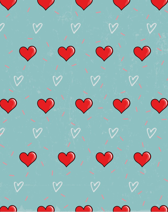 Kleine Decke Multi-Gesicht mit verschiedenen Hintergründen - Herz