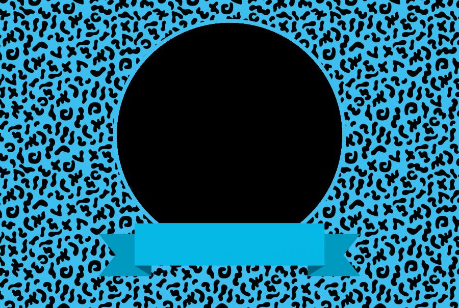 Napfunterlage mit Bild und Text (NUBTXT) - Blau