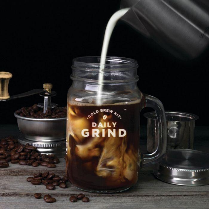 Kit Slow Coffee avec moulin à café intégré et Mason Jar