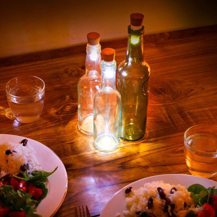 Lumières LED pour bouteille avec USB - Blanche