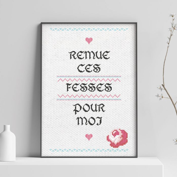 Poster Personnalisable Effet Broderie