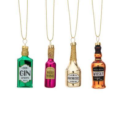 Set de 4 petites bouteilles pour le sapin