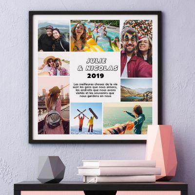 Poster avec 8 Photos et Texte