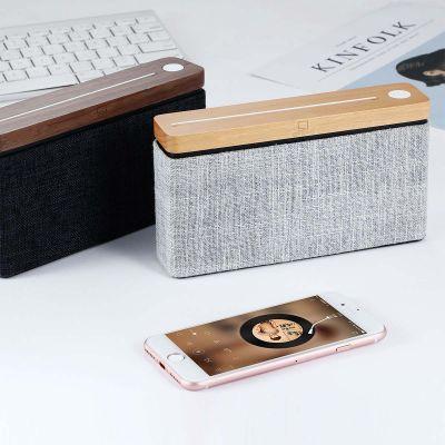 Haut-parleur Bluetooth Square en bois