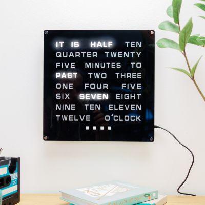 Horloge de mots LED Maxi