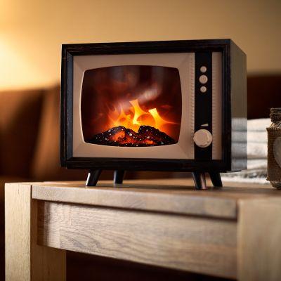 Mini cheminée électrique TV