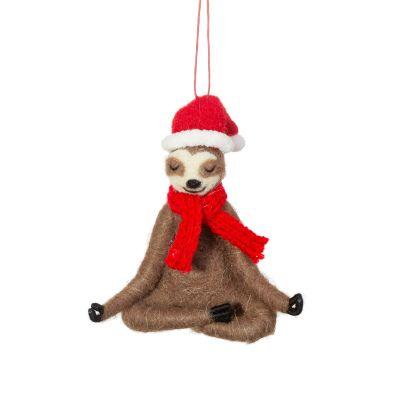 Décoration de Noël Paresseux Yoga
