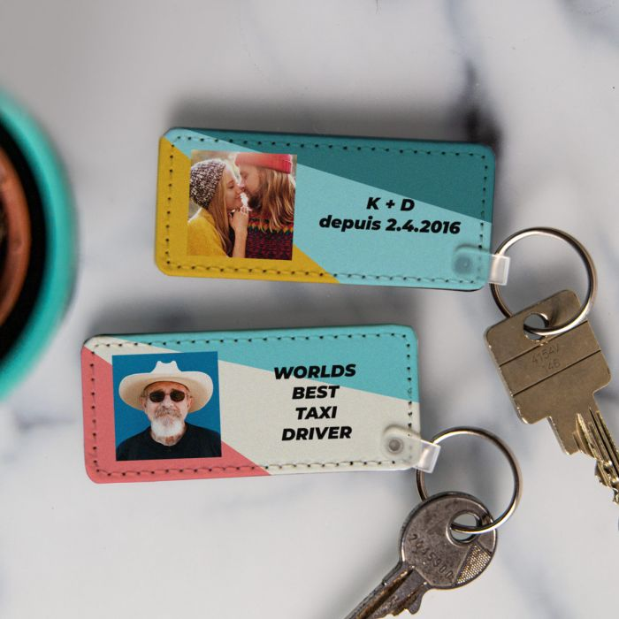 Porte-clés avec Photo et Texte