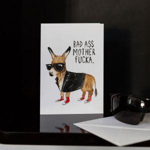 Carte de vœux Bad Ass