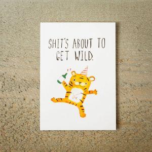 Carte de vœux Party Tiger