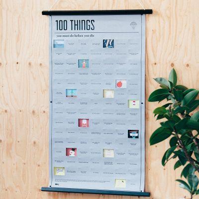 Cadeaux rigolos - Poster 100 things, que vous devez faire avant de mourir