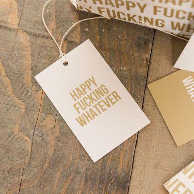 Witzige Geschenke - Papier cadeau Happy Whatever