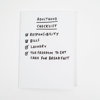 Cartes - Carte de vœux Adulthood Checklist