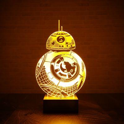 Cadeau pour son copain - Lampe Star Wars BB-8 effet 3D