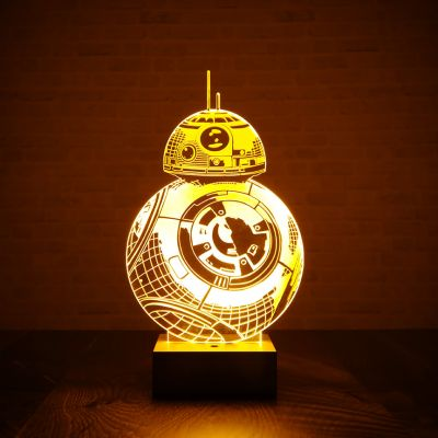 Cadeau frère - Lampe Star Wars BB-8 effet 3D