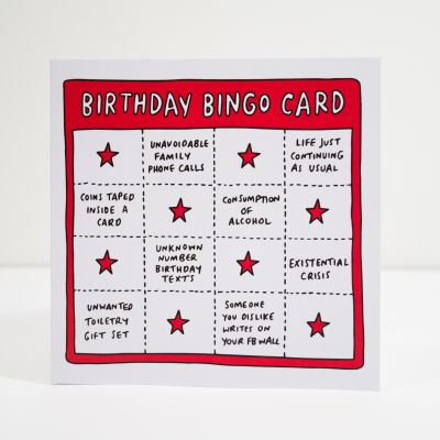 Cadeau anniversaire Homme - Carte d'anniversaire Birthday Bingo