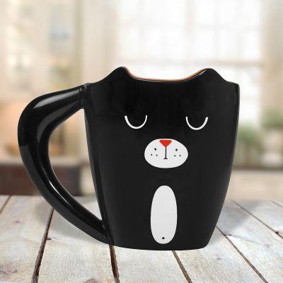 Thé ou café - Tasse Chat Noir
