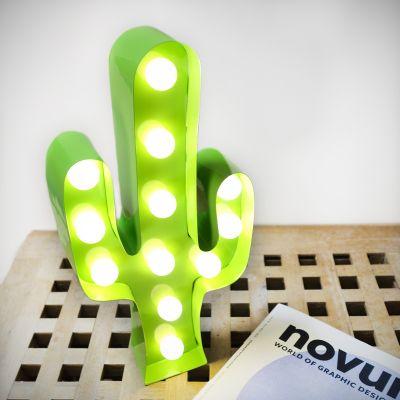 Cadeaux de Noël pour maman - Lampe LED Cactus