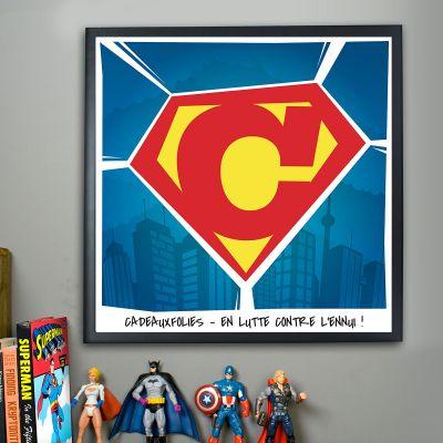 Cadeau Saint Valentin Homme - Superman - Poster Personnalisable
