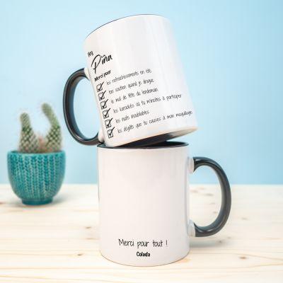 Idées cadeaux pour mettre dans le calendrier de l'avent - Tasse Personnalisable Merci