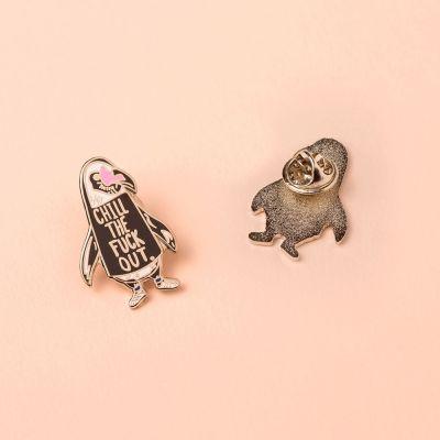Idées cadeaux pour mettre dans le calendrier de l'avent - Pin's Pingouin Chill Out