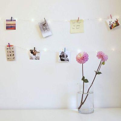 Idées cadeaux pour mettre dans le calendrier de l'avent - Guirlande LED Mini Pinces à linge