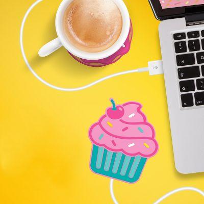 Cadeaux rigolos - Chauffe-tasse USB Cupcake