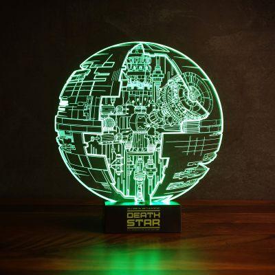 Cadeau anniversaire papa - Lampe Étoile de la Mort Star Wars – Effet 3D